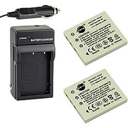 DSTE 2x NP-40 Battery + DC29 Travel and Car Charger Adapter for Fujifilm F610 F650 F455 F700 F710 F810 F811 J50 Z2 Z3 Z5fd Camera as KLIC-7005 D-Li85 D-LI8 SLB-0737 NP-40