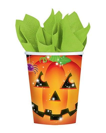 Vasos De Papel Calabaza De Halloween Amazones Juguetes Y Juegos - Calabaza-de-papel