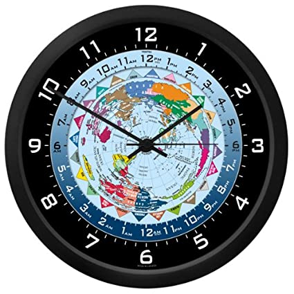 Amazon Com World Time Clock 10 Inch Home Kitchen
