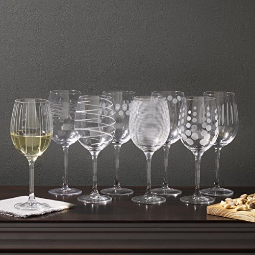 Mikasa Cheers White Wine Glasses, 16-Ounce, Set of 8 by Mikasa (Image #1)