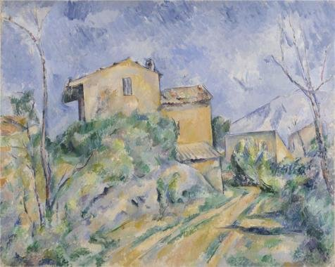 Perfect effect Canvas ,the Best Price Art Decorative Prints on Canvas of oil painting 'Maison Maria with a View of Chateau Noir,1895 By Paul Cezanne', 12x15 inch / 30x38 cm is best for Bar decoration and Home artwork and (Les Paul Classic Custom Lite)