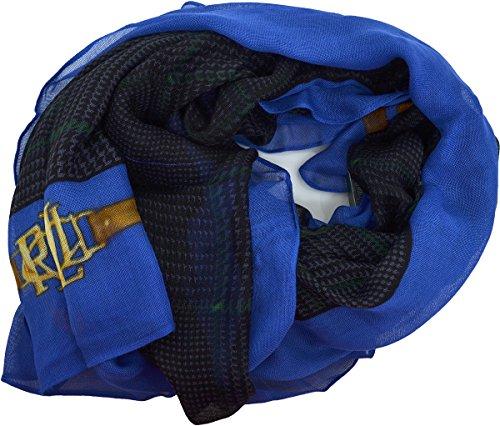 Lauren Ralph Lauren Large Semi Sheer Bridle Scarf Navy (Scarf Ralph Lauren Women)