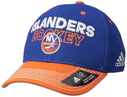 Victory Baseball Apparel - adidas NHL New York Islanders Adult Men Pro Authentic Locker Room Structured Flex, Large/X-Large, Blue