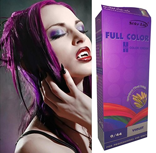 Starlist Permanent Hair Colour Cream Dye Goth Cosplay Emo Punk Purple with Serum by Starlist Emo Hair
