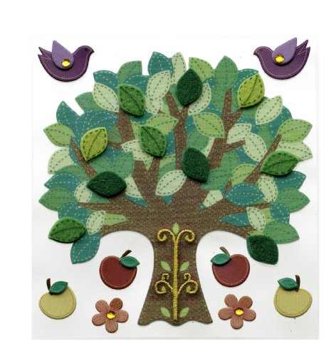 Dimensional Stickers Fruit (Jolee's Boutique Dimensional Stickers, Colorful Stitched Tree)