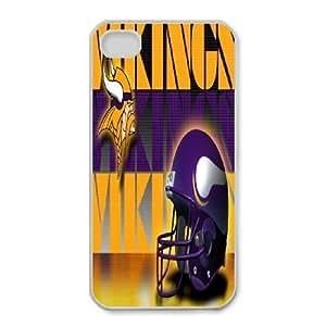 iphone4 4s Phone Case White Minnesota Vikings JGL603659