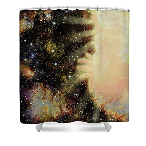 Pixels Shower Curtain (74'' x 71'') ''Seeing Beyond 2'' by Pixels