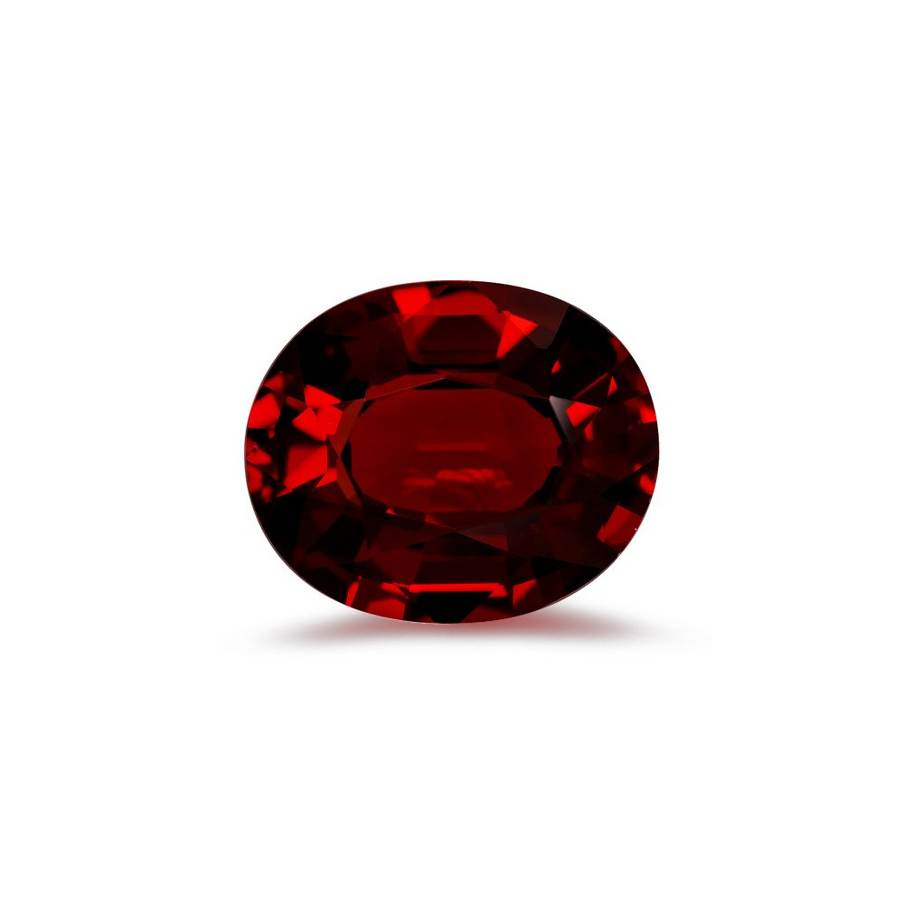 5.25-6.25 Cts of 12x10 mm AAA Oval Step Cut Mozambique Garnet ( 1 pc ) Loose Gemstone