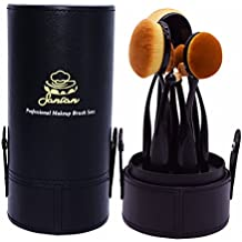 Hot Sale !!! Sancan Professional 10-Piece Soft Oval Makeup Brush Set with PU Leather Case Holder Best for Travel Girls Women