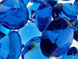 Firefly Imports 50-Piece Acrylic Diamond Gemstone Table Scatter, Royal Blue, 3/4-Inch