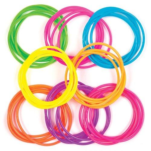 Baker Ross Neon Rainbow Gummy Bracelet (Pack of 40) AV169, Great Party Favors, Bag Stuffers, Fun, Gift or Prize!]()