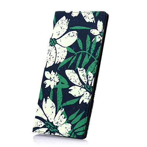 Womens Bifold Long Wallets Slim Snap Wallet Card Holder Organizer with Snap Fastener and ID Window for Ladies and Girls (Floral 1)