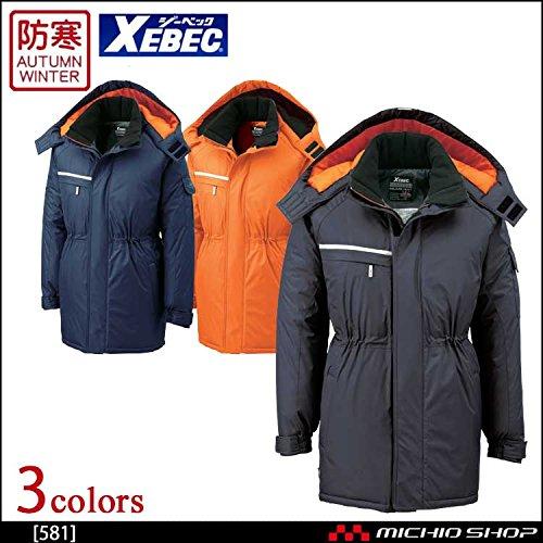 ジーベック 防水防寒コート 581 作業服 B07BK2LGYX 4L|25チャコールグレー 25チャコールグレー 4L