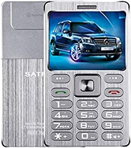 Mobile Phones & Communication SATREND A10 Card Mobile Phone, 1.77 inch, MTK6261D, 21 Keys, Support Bluetooth, MP3, Anti-Lost, Remote Capture, FM, GSM, Dual SIM(Black) (Color : Silver)