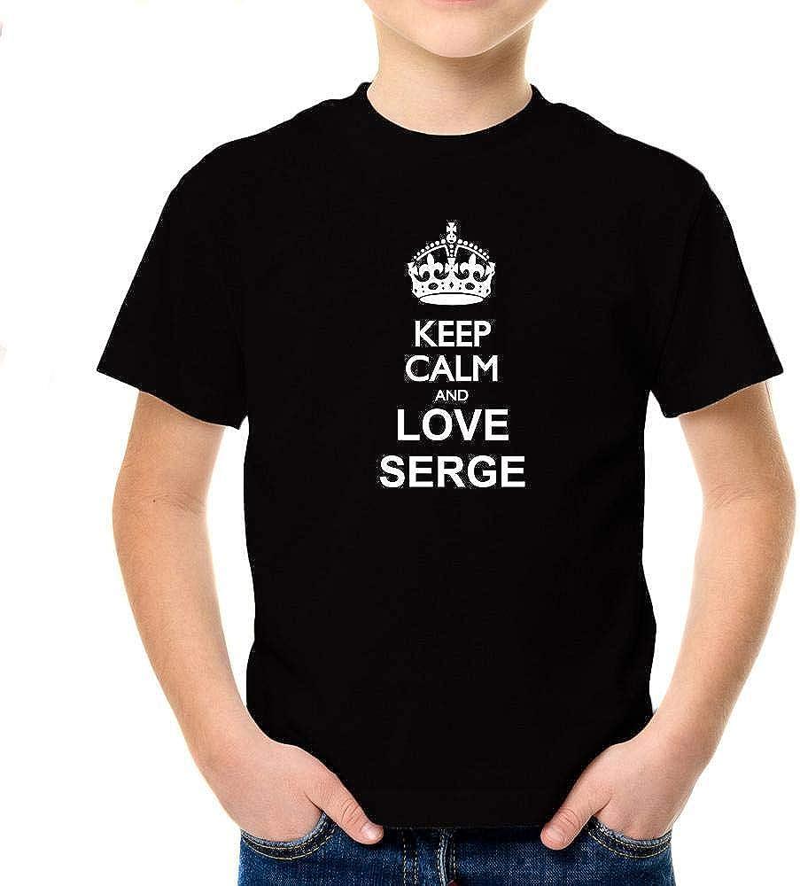 Idakoos Keep Calm and Love Serge Boy T-Shirt