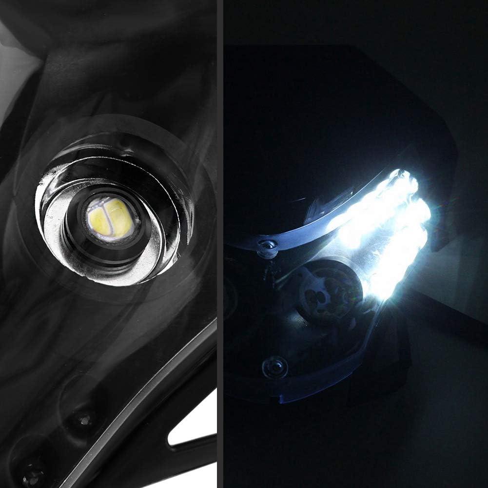 Universal Motorcycle Headlight Head Lamp Light,DC12V Dirtbike Motorcycle LED Headlight Sport Custom Fairing Light For Honda Yamaha Suzuki Kawasaki