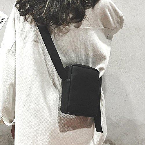 pour Mini Zipper Sac Fille Messenger Femmes Bandoulière à Noir Crossbody Sacs main Carré Demiawaking PU 7dUqF7