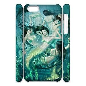 Iphone 5C Mermaid 3D Art Print Design Phone Back Case Custom Hard Shell Protection LK055201
