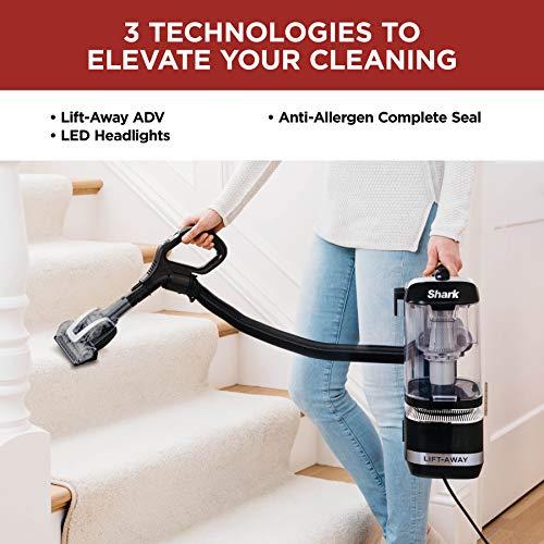 Shark LA322 Navigator Lift-Away ADV Corded Lightweight Upright Vacuum with Detachable Pod Pet Power Brush Crevice and Upholstery Tool, Black