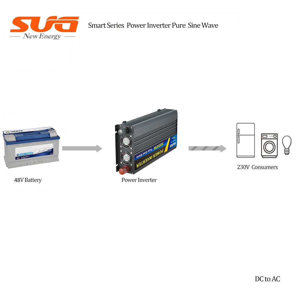 Sug 3000w Pico 6000w inversor 48v/220v/Onda/Pura inversor/de/Corriente con Pantalla led