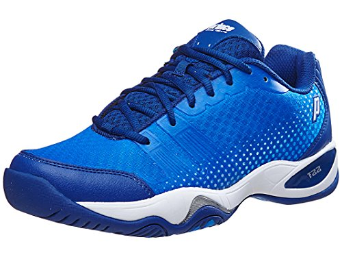 Prince Men's T22 Lite Tennis Shoes (Royal/White) (12 D(M) (Prince Mens Tennis Shoes)