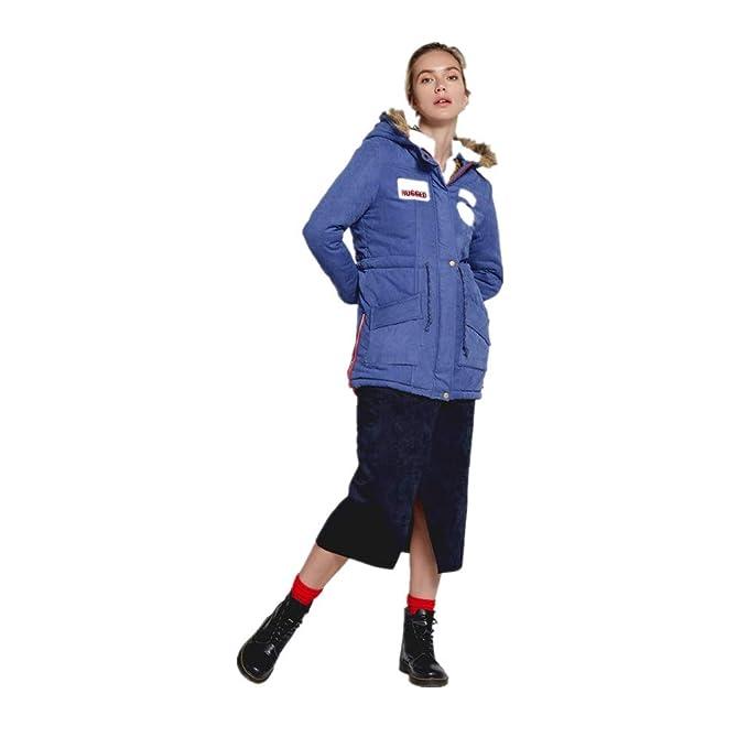 ZODOF Abrigo de otoño de Las señoras Chaqueta con Capucha del Cuello de Piel de Abrigo Larga Caliente de Las Mujeres Abrigos Largos Outwear: Amazon.es: Ropa ...