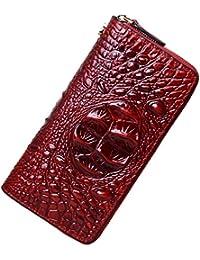 Wristlet Wallet For Women Crocodile Leather Wallet Ladies Clutch Purse 1058