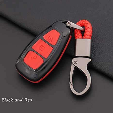 Silicone Cover Holder fit for FORD Fiesta Focus Mondeo Smart Remote Key Case RD