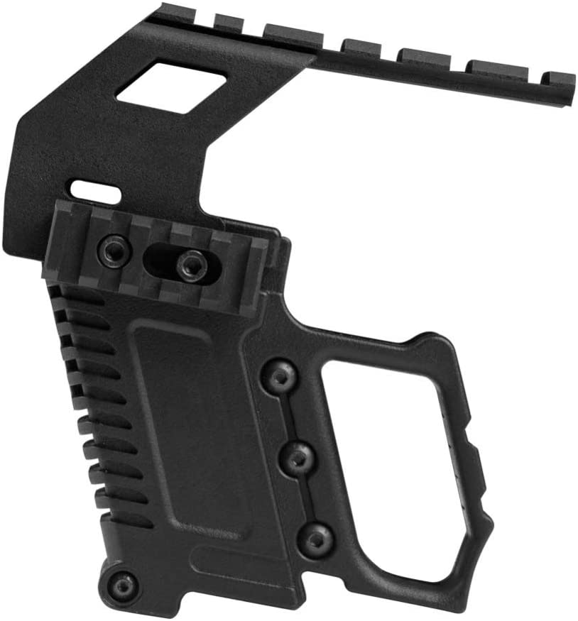 Gocher Kit de carabina de Pistola Militar, Montaje en Panel/riel ABS para la Serie G17 / 18/19 GBB Cargando Accesorios de Caza