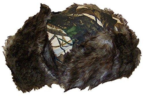 874b3fc90e5 Best Winter Hats Adult Tree Camouflage Russian Hunters Cap W Soft Faux Fur