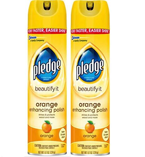 Pledge Enhancing Polish Furniture Spray - 9.7 oz - 2 pk - Orange