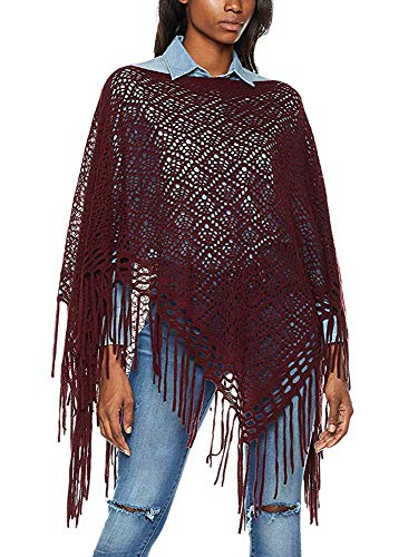 Moss Rose Women's Sweater Turtleneck Pullover Wrap Poncho Sweater