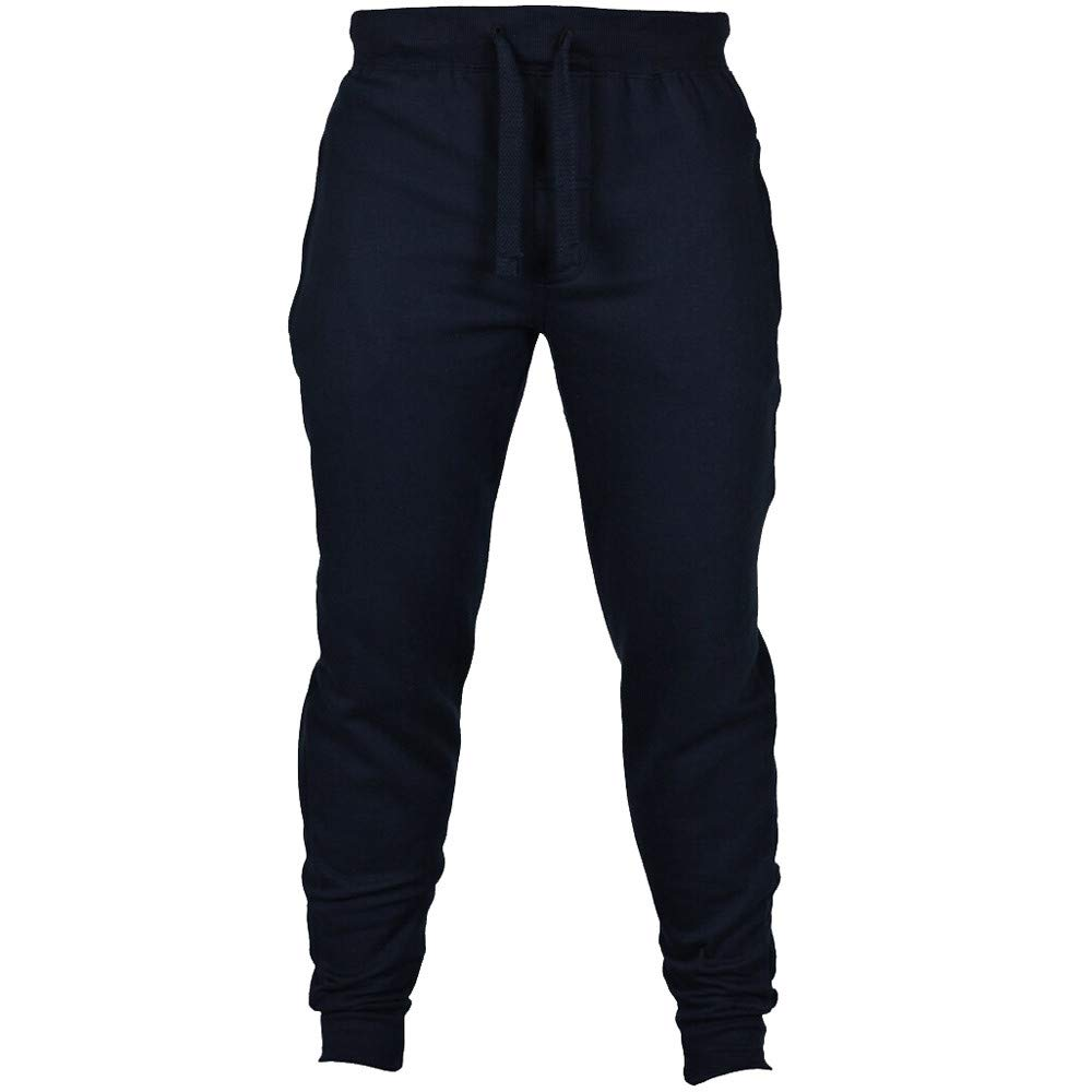 Spbamboo Mens Sweatpants Casual Joggers Solid Elastic Waist Drawstring Trousers