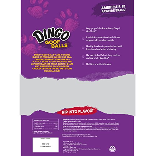 Dingo Goof Balls Chicken and Rawhide Snack Chew for Dogs outlet