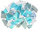 Mixed Blue Stained Glass Cobbles-2.5 ounces