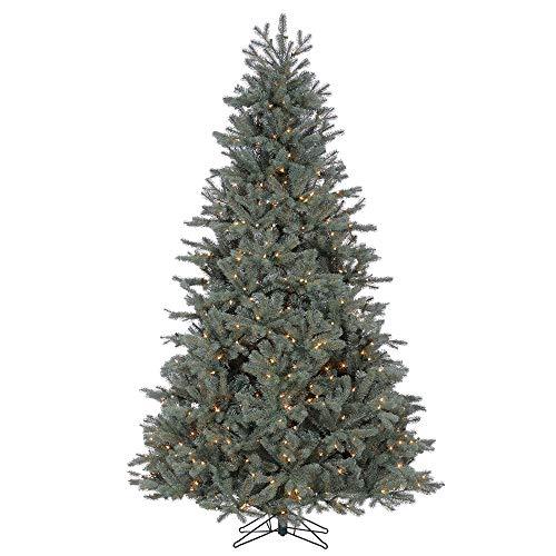 Ship My Plants Pre-Lit Colorado Blue Spruce Lifelike Christmas Tree, 7.5-Feet Tall, 850 Stay-Lit Clear Lights (Colorado Blue Spruce Pre Lit Christmas Tree)