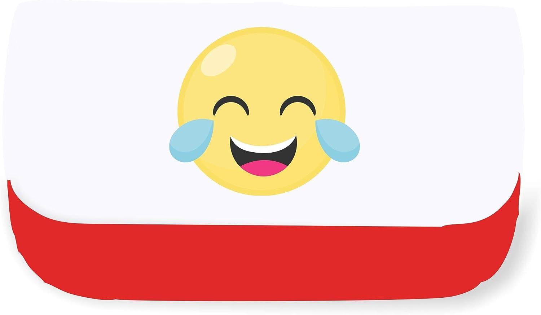 Estuche para lápices o bolso de mano con diseño de emojis y cara de risa, color rosso talla única: Amazon.es: Oficina y papelería