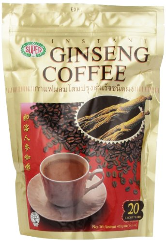 Super Instant Coffee, Ginseng, 20-Count