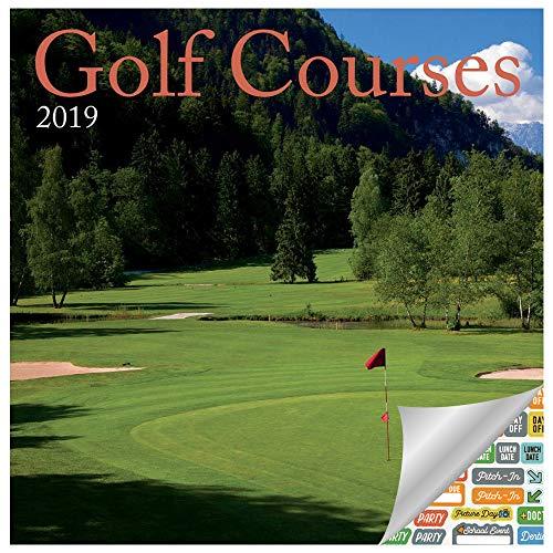 Golf Course Calendar 2019 Set - Deluxe 2019 Golf Courses Mini Wall Calendar Bundle with Over 100 Calendar Stickers (Golf Office Decor, Desk Accessories) ()