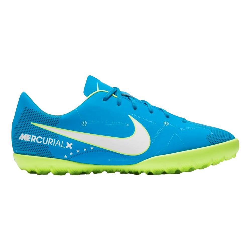 Nike Youth Mercurialx Victory VI Neymar Turf Shoes [Blue Orbit] (13C) by NIKE
