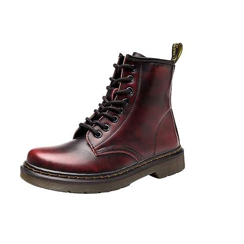 Botas De Martin para Hombre Botas De Cuero para La Piel Botas De Trabajo Retro CláSicas De Piel Forradas con Zapatos De Piel Calzado Impermeable Y ...