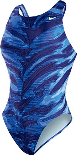 Nike Women's Electric Anomaly Fast Back Tank 1-piece Swimsuit (Nike 1 Piece)