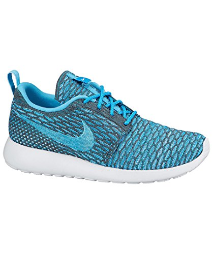 Clearwater Blue Dark Running Grey Women's Lagoon Run Roshe 10 Nike White Shoes Flyknit wz10vgqvUx