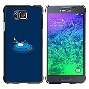 Paccase / SLIM PC / Aliminium Casa Carcasa Funda Case Cover - Minimalist Polygon Art Submarine - Samsung GALAXY ALPHA G850
