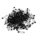 """Household 0.8"""" x 0.2"""" Black Metal Fastening Tool Safety Pins 100 Pieces"""
