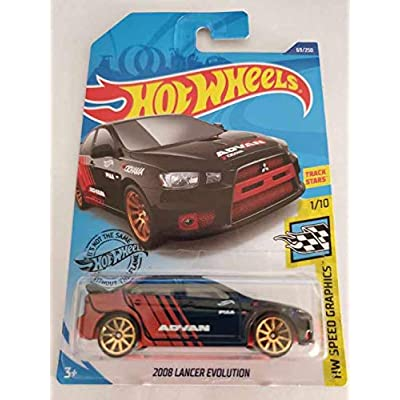 Hot Wheels 2020 Hw Speed Graphics 2008 Lancer Evolution, Black 69/250: Toys & Games