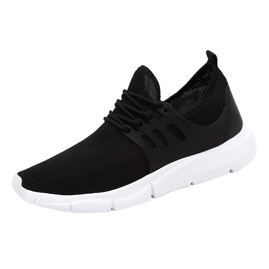 Men's Tennis Shoes Breathable - Lightweight Lace-Up Mesh Woven Ultimate Walking Running Gym Sneakers
