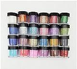 XICHEN 24 Color Glitter Powder Dust Nail Art glitter powder Tips decoration Jumbo Size