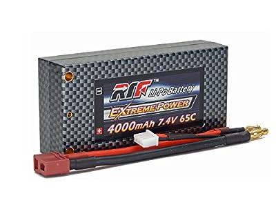 7.4V 4000mAh 2S Cell 65C-130C Shorty HardCase LiPo Battery Pack w/ 4mm Bullet/Banana & Deans Ultra Connector w/ WARRANTY - Giant Power, Dinogy, Extreme Power, RTF