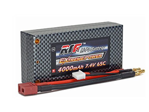7.4V 4000mAh 2S Cell 65C-130C Shorty HardCase LiPo Battery Pack w/ 4mm Bullet/Banana & Deans Ultra Connector w/ WARRANTY - Giant Power, Dinogy, Extreme Power, RTF